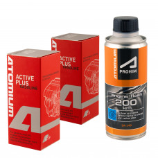 Atomium Active Gasoline Plus x 2 + Atomium Aprohim™ Engine Flush 200